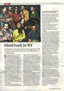 INDIAN EXPRESS - Dhol Funk in NY